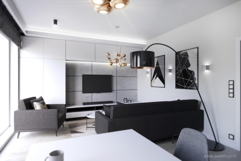 Monochromatycznie mieszkanie w Łodzi